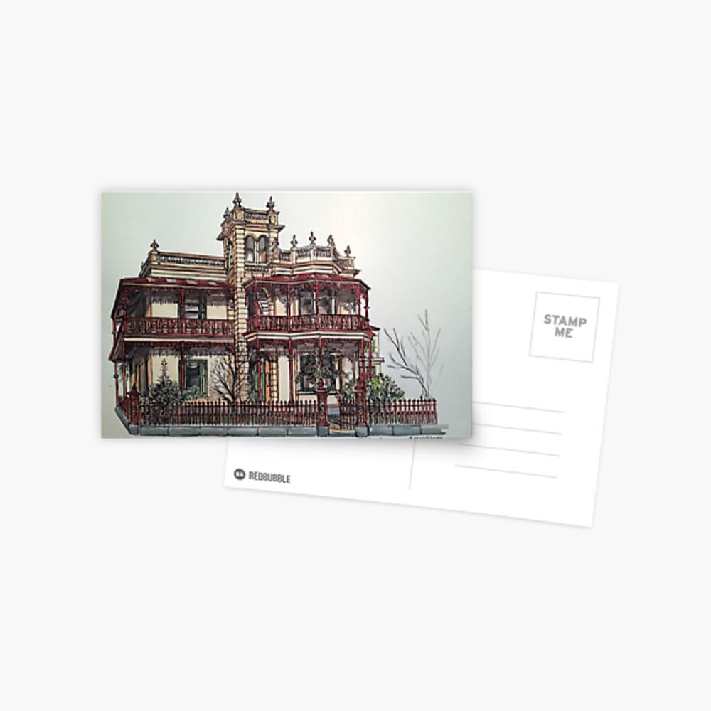 Phryne Fisher's house 'Wardlow'©.  Postcard