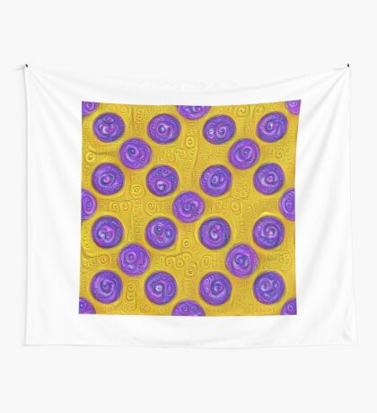#DeepDream Color Squares and Circles Visual Areas 5x5K v1448281164 Wall Tapestry