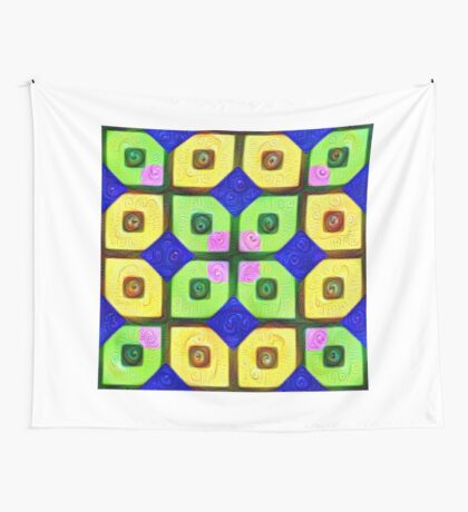 #DeepDream Color Squares Visual Areas 5x5K v1448352654 Wall Tapestry