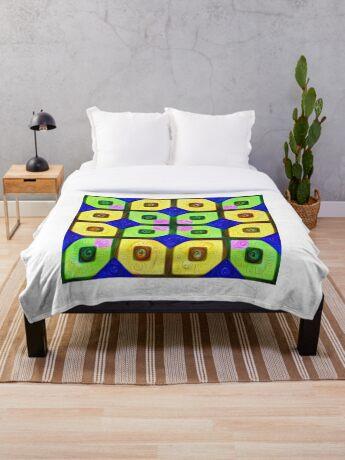 #DeepDream Color Squares Visual Areas 5x5K v1448352654 Throw Blanket