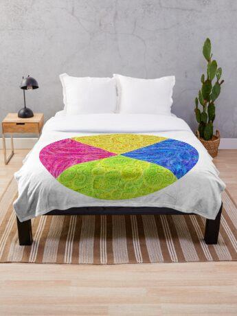 #DeepDream Color Circle Visual Areas 6x6K v1448932478 Throw Blanket