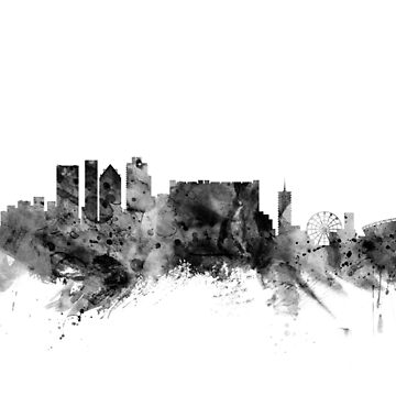 Cape Town South Africa Skyline by ArtPrints