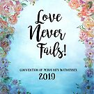 """Love Never Fails""! 2019 Regional Convention of Jehovah's Witnesses (Floral Blue) by JW Stuff"