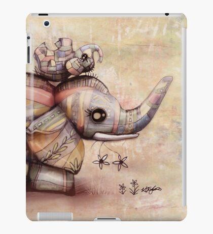 upside down elephants iPad Case/Skin