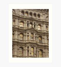 Melbourne Architecture, Building Front Art Print
