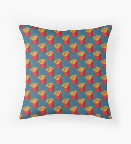 FAST FOOD / Fries - pattern Throw Pillow