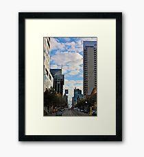 Streetscape in Melbourne Framed Print