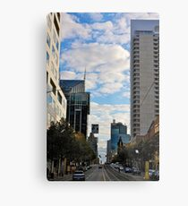 Streetscape in Melbourne Metal Print