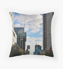 Streetscape in Melbourne Throw Pillow