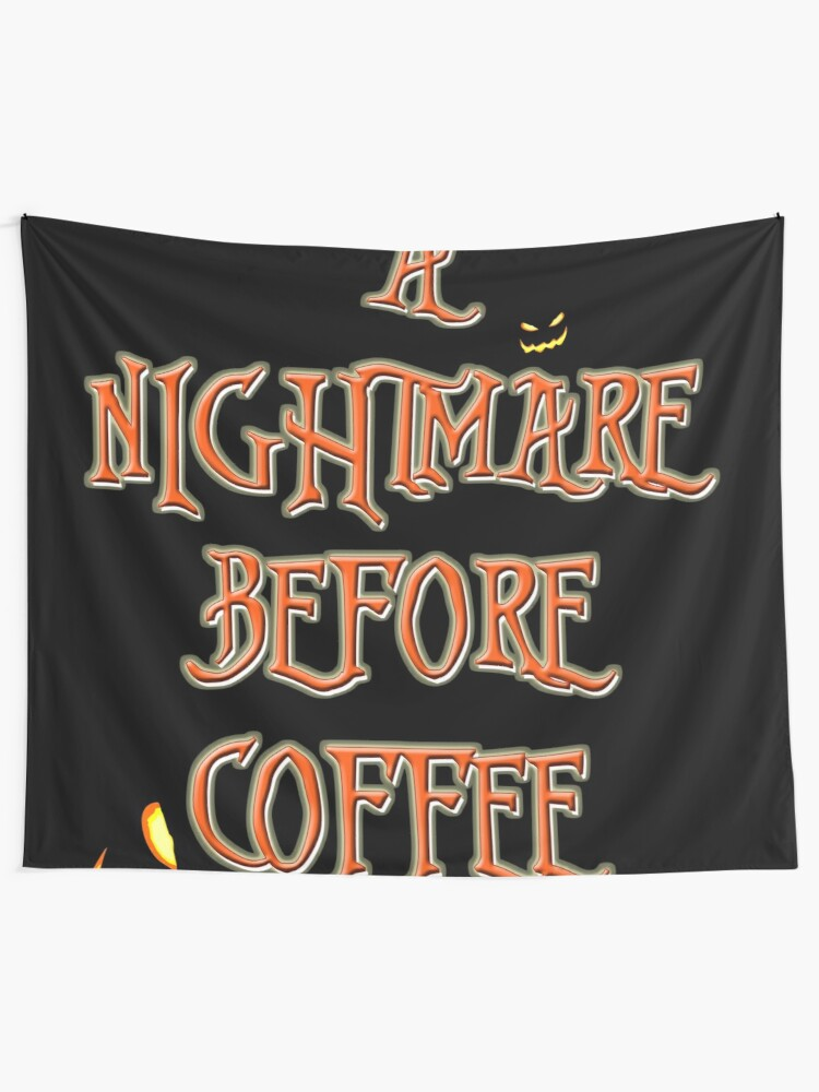 Nightmare Before Christmas Fonts.Nightmare Before Christmas Font Coffee Wall Tapestry