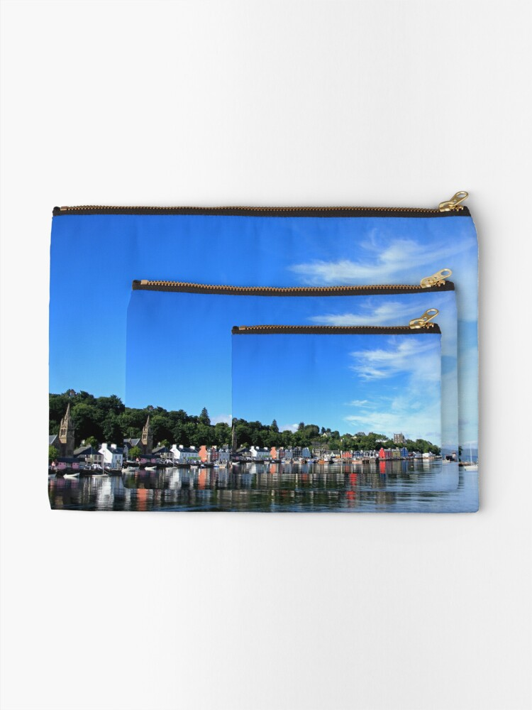 Alternate view of Blue Sky in Balamory Zipper Pouch