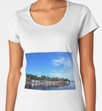 Blue Sky in Balamory Premium Scoop T-Shirt