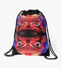 Angry Fish Face #02 Drawstring Bag