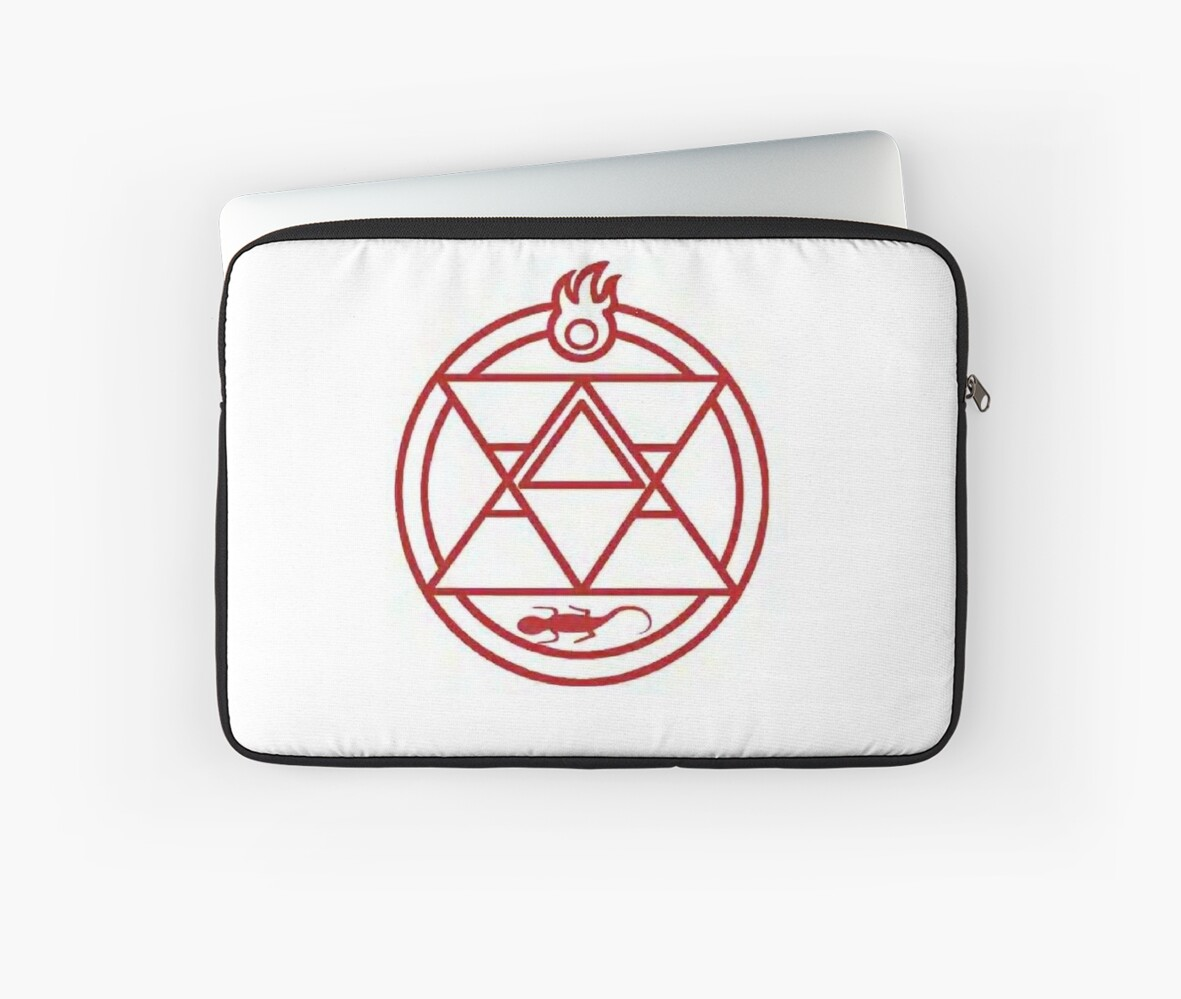 Roy Mustang Alchemy Fire Transmutation Circle Laptop Sleeves By