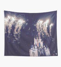 Tela decorativa Castillo de Magic Kingdom con fuegos artificiales