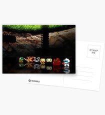 Dig Dug pixel art Postcards