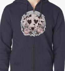Dalmatiner Hund Hoodie mit Reißverschluss