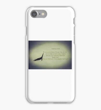 Don't Worry - Matthew 6:26 iPhone Case/Skin