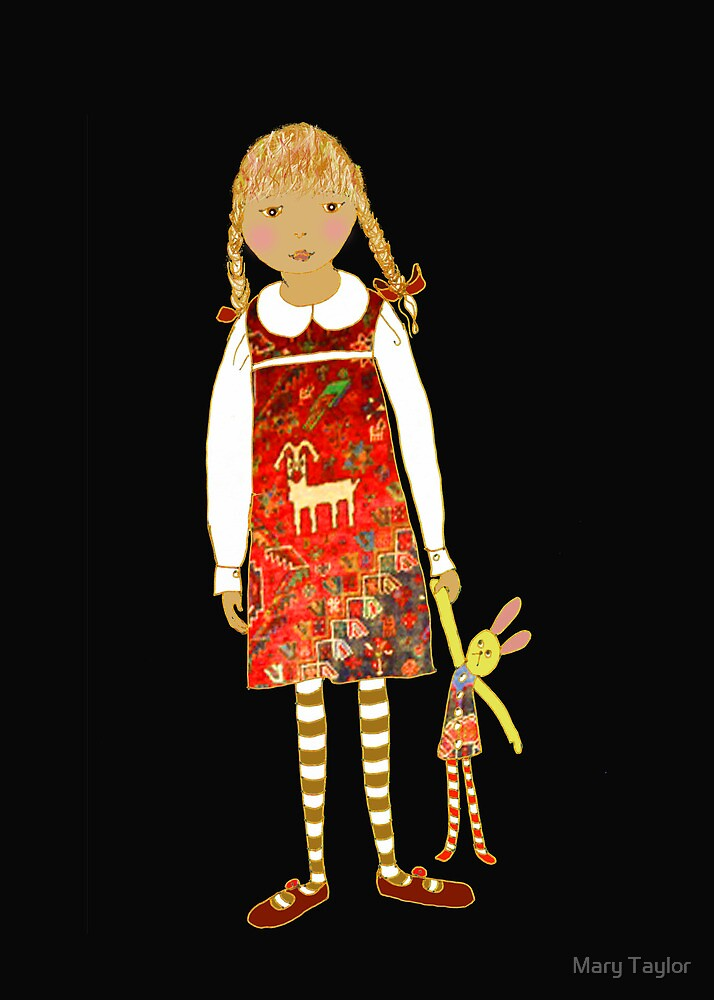 """Little girl with persian carpet dress"" by Mary Taylor"