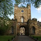 entrance gate to Durham University by BronReid