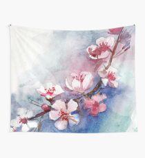 Aquarell Blumen Wandbehang