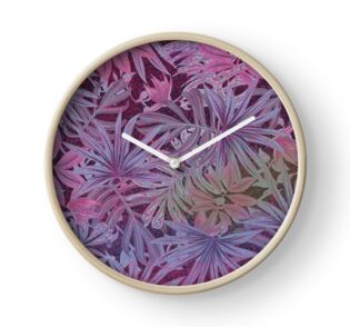 Pink and Purple Pastel Cannabis Marijuana Pot Weed 420 Print