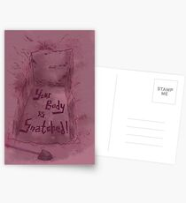 Your Body is Snatched! Postcards