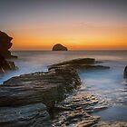 Ende des Tages bei Trebarwith Strand Nord Cornwall von eddiej