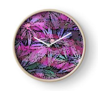 vibrant Psychedelic Cannabis Marijuana Pot Weed Print