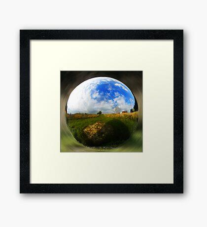 Spherical object Framed Print