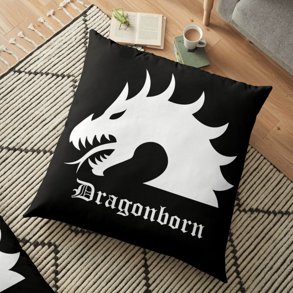 Dragonborn Fantasy Floor Pillow