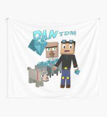 DanTDM Der Diamant Minecart - Minecraft Youtuber Wandbehang