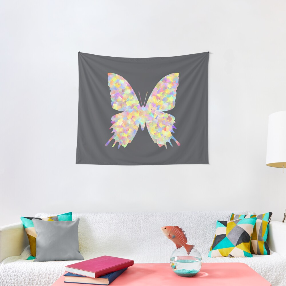 Pastel Motley Butterfly Tapestry