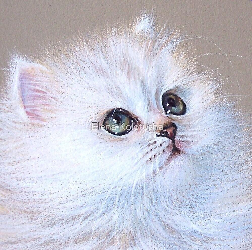 White Kitten by Elena Kolotusha