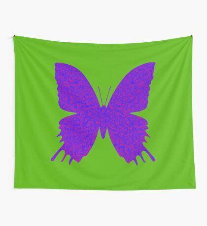 #DeepDream Purple Violet Butterfly Wall Tapestry