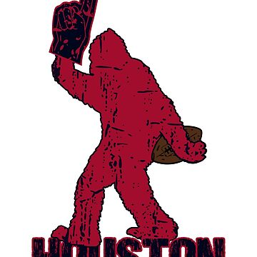 BIGFOOT IS YETI TO CHEER FOR HOUSTON FOOTBALL - SASQUATCH LOGO IN YOUR FAVORITE TEAMS COLORS by NotYourDesign