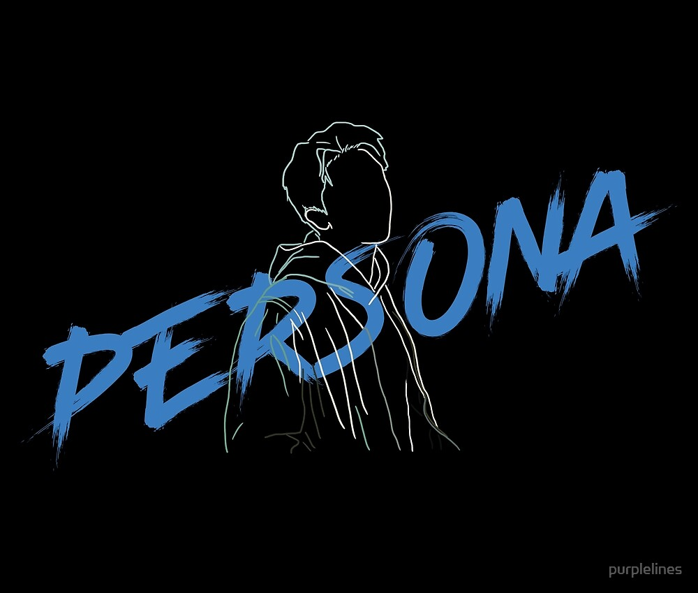 bts persona rm outline design on the back by purplelines redbubble redbubble