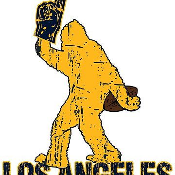 SASQUATCH IS YETI TO CHEER FOR LOS ANGELES FOOTBALL - BIGFOOT LOGO IN YOUR FAVORITE TEAMS COLORS by NotYourDesign