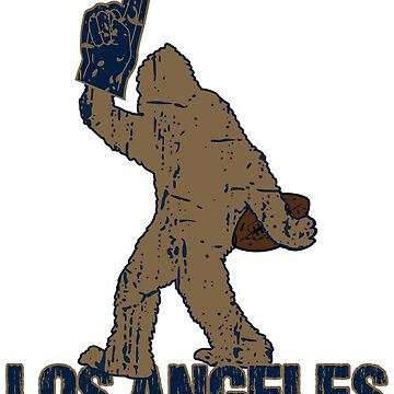BIGFOOT IS YETI TO CHEER FOR LOS ANGELES FOOTBALL - SASQUATCH LOGO IN YOUR FAVORITE TEAMS COLORS by NotYourDesign