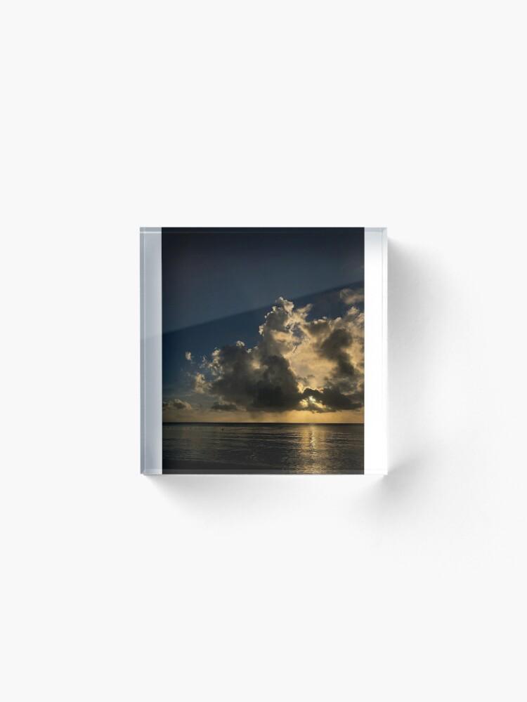 Alternate view of Reflection sunset Acrylic Block