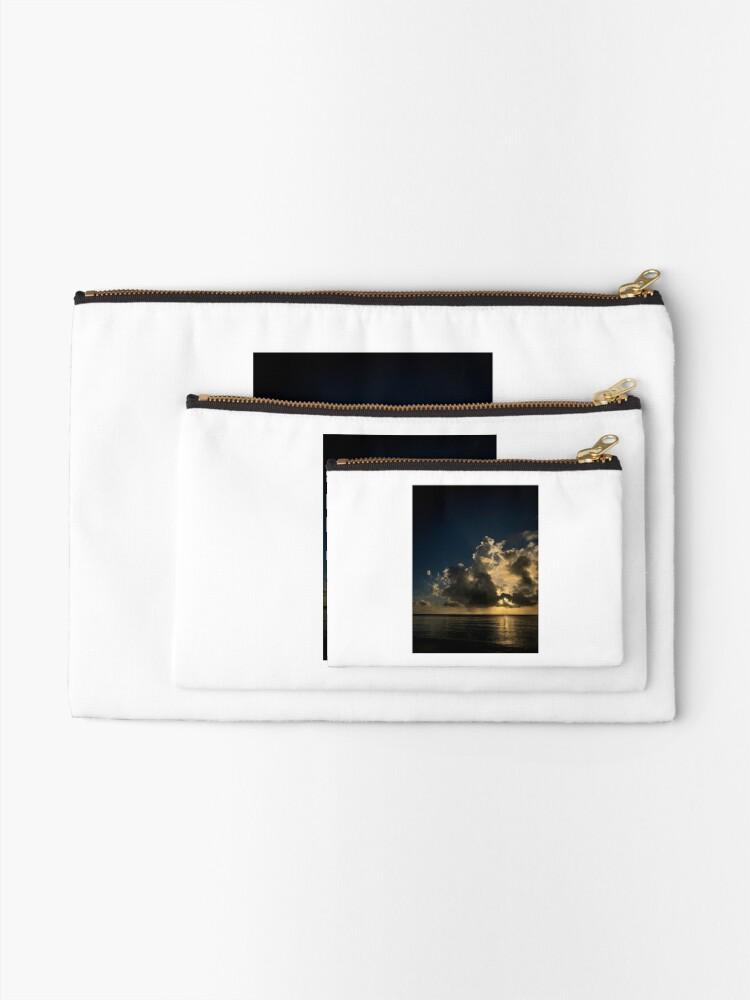 Alternate view of Reflection sunset Zipper Pouch