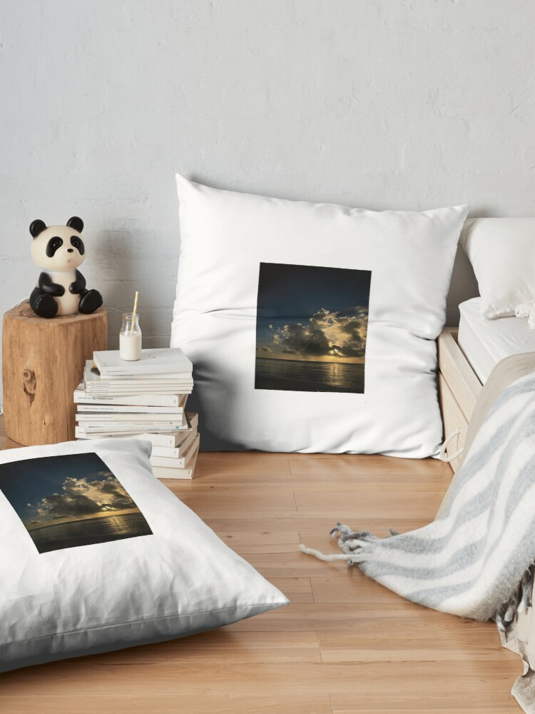 Alternate view of Reflection sunset Floor Pillow