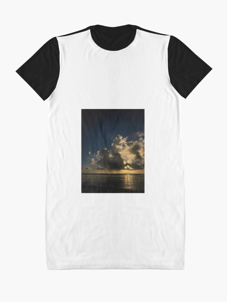 Alternate view of Reflection sunset Graphic T-Shirt Dress