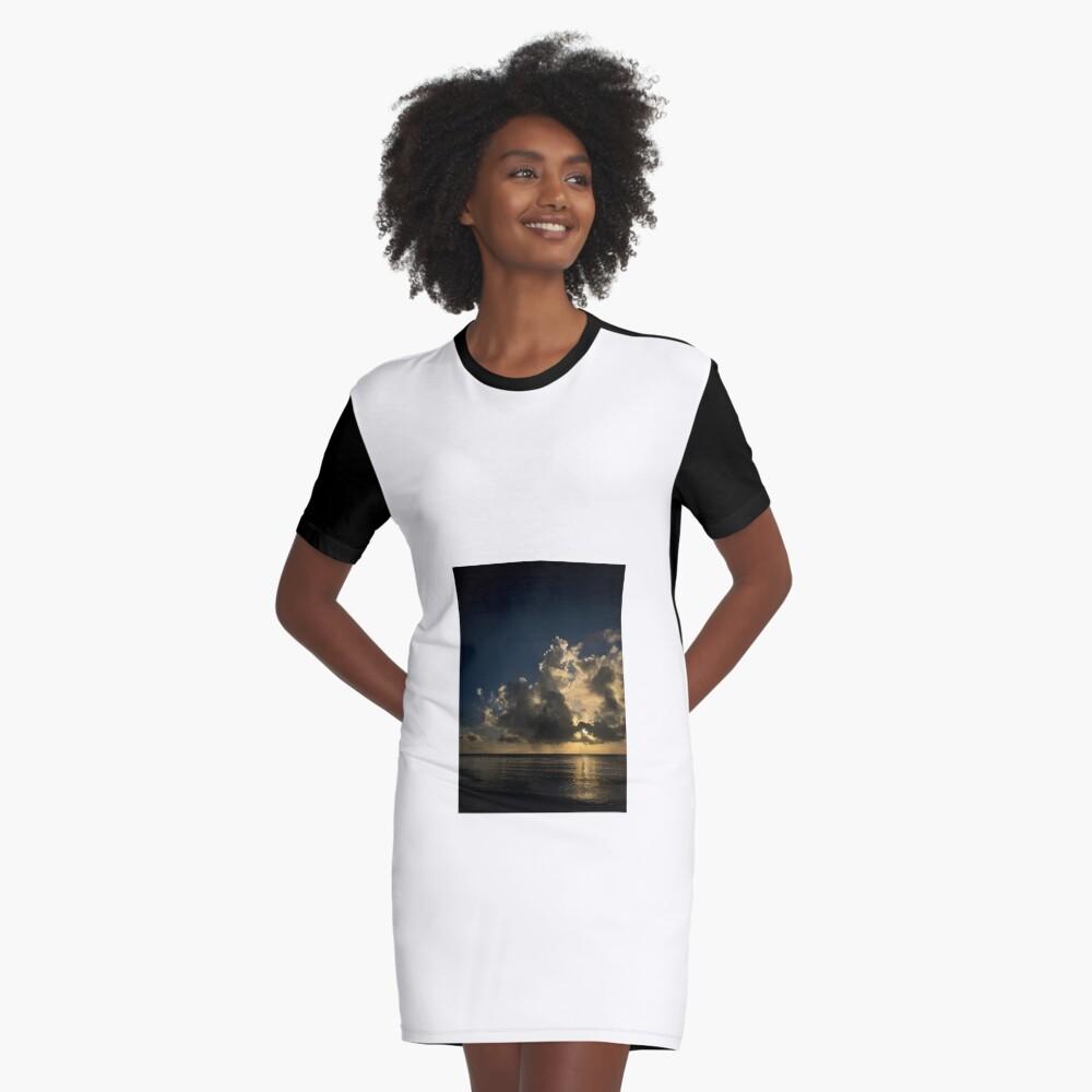 Reflection sunset Graphic T-Shirt Dress