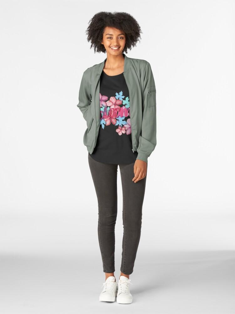 Alternative Ansicht von Bloom ( Blumen pattern) Frauen Premium T-Shirt