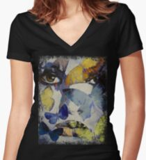 Butterflies Women's Fitted V-Neck T-Shirt