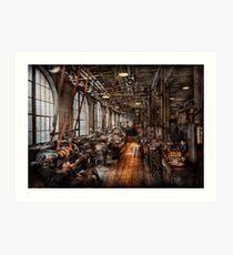 Maschinist - Ein voll funktionsfähiger Maschinenpark Kunstdruck