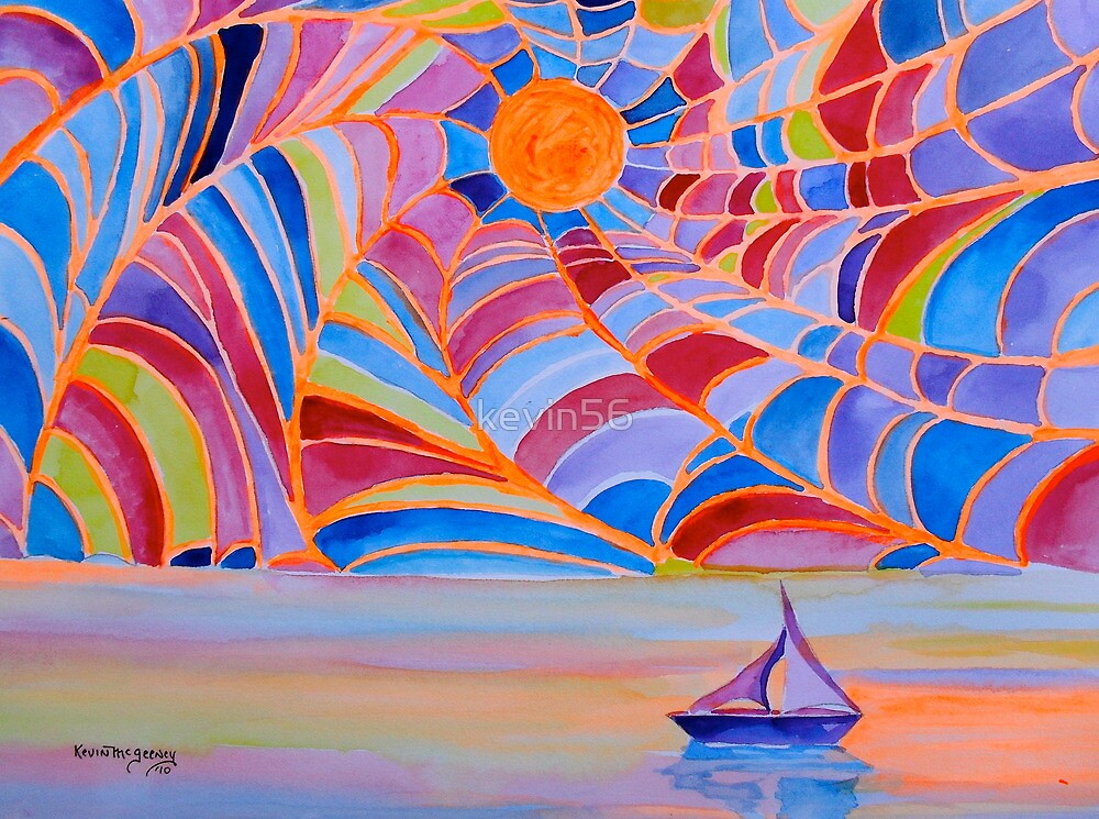 Lost Sailboat in the Bermuda Web by Kevin McGeeney