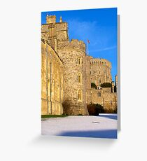 Windsor Castle on a snowy morning Greeting Card