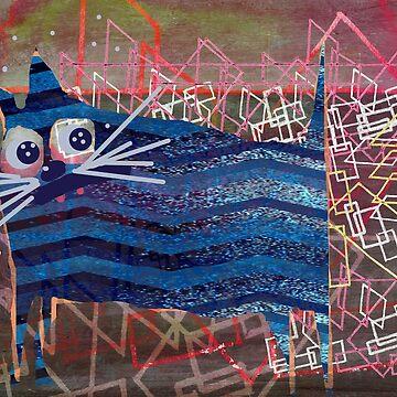 geometrische Katze von mariannat